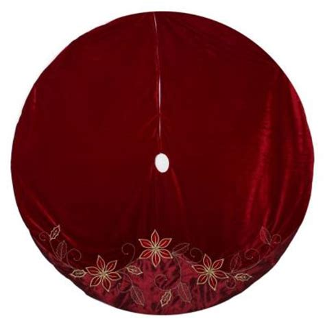 home accents holiday 60 in velvet and satin poinsettia