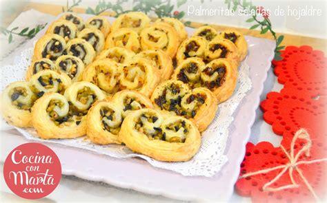 recetas saladas con hojaldre palmeritas saladas de hojaldre cocinaconmarta