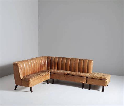 leather corner sofas sale cognac leather corner sofa for sale at 1stdibs