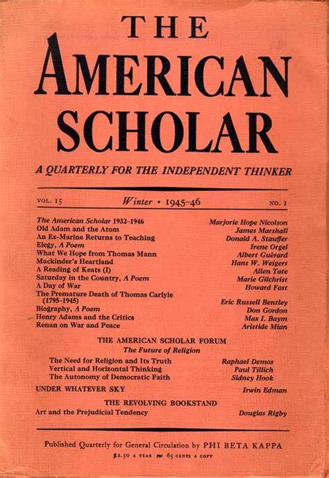 The American Scholar Analysis Essay by Howard Fast Articles Essays Ephemera