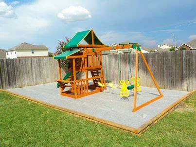 swing set border playset swingset and playground borders fall zones
