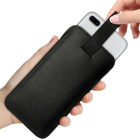 Pouch Iphone 6 Plus igadgitz premium pouch sleeve black leather cover for
