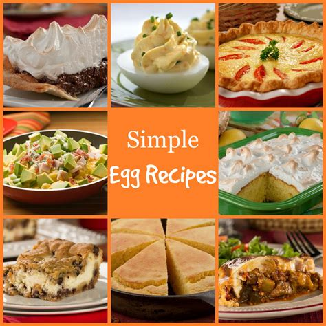 15 Easy Egg Recipes by 16 Simple Egg Recipes Plus Egg Safety Tips Mrfood
