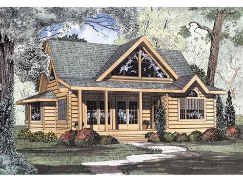 Log Cabin House Plans | logan creek log cabin home plan 073d 0005 house plans