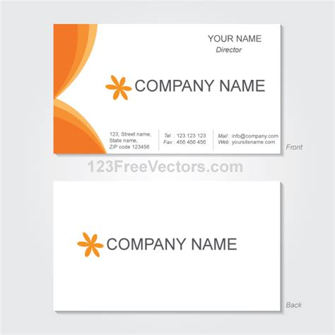 business card design template vector free vector graphics business card template by 123freevectors