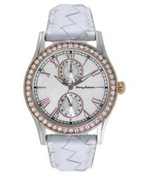 Fossil Es4209 Jacqueline White Woven Leather Original bahama s swiss white woven leather 40mm tb2158 in white lyst