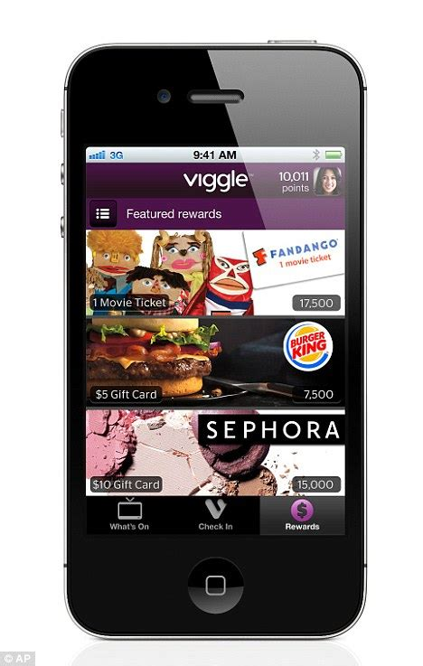 App That Gives You Gift Cards For Watching Tv - iphone and ipad app viggle rewards couch potatoes with burger king and starbucks