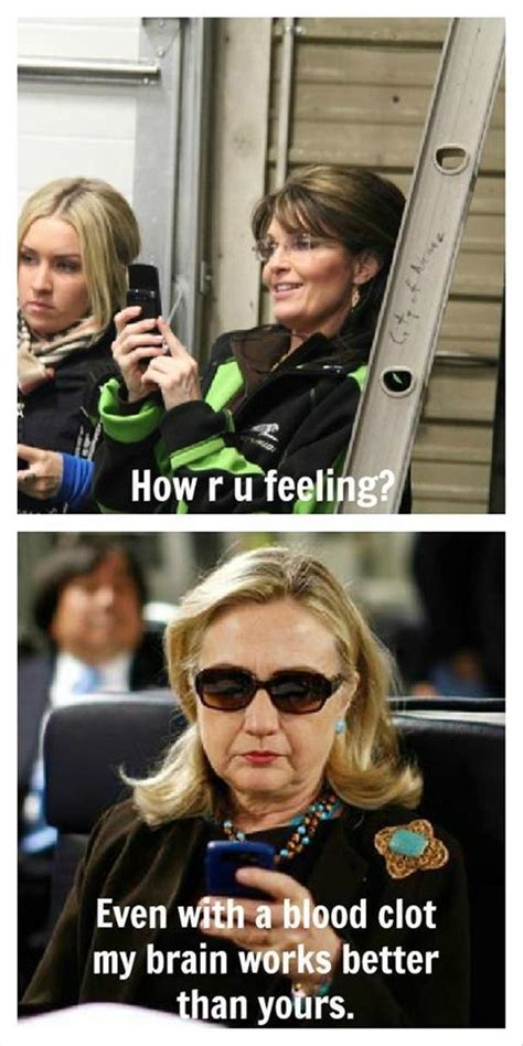 Hillary Clinton Texting Meme - funny hillary clinton blood clot texting dump a day