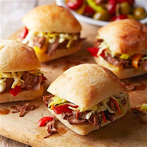 Decoration Sauce By Kimkim Shop mini italian beef sandwiches with pepperoncini slaw