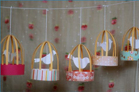 Paper Bird Cage Craft - diy paper bird cages the refab diaries