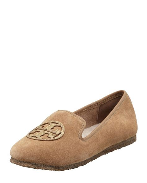 tory burch house slippers tory burch billy suede smoking slipper camel