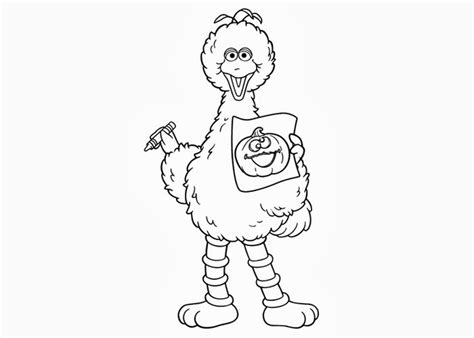Sesame Street Big Bird Coloring Pages Free Coloring Big Bird Coloring Pages Free