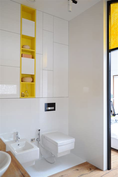 Apartment Bathroom Storage Apartment Gets A Colorful Makeover For Its Adventurous Owners