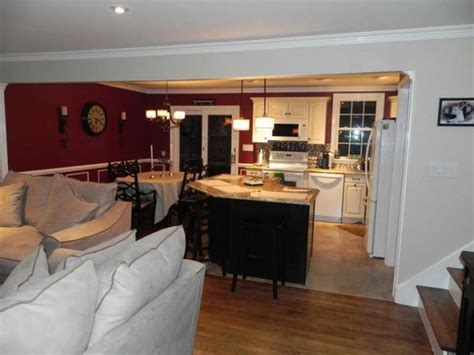 flooring open floor plan kitchen and living room house