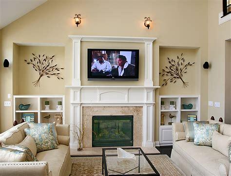 Fireplace design with tv above decobizz com