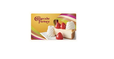 Buy Cheesecake Factory Gift Card - this starts today buy a 25 cheesecake factory gift card get two free cheesecakes