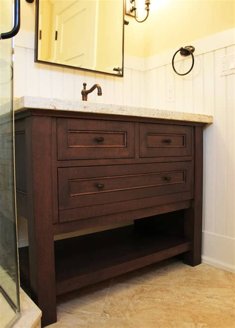 antique brown polished teak wood corner bathroom