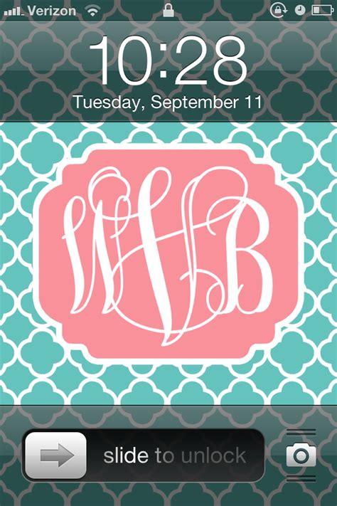 monogram background diy monogram iphone wallpaper