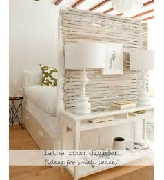 Small Room Decorating Ideas Diy Recycled Lathe Room Divider Diy Small Apartment