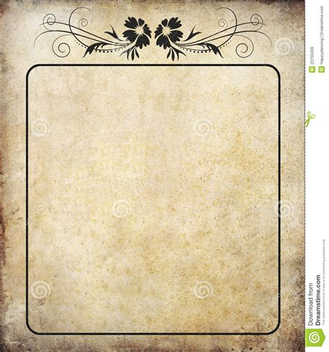 old paper with label vintage stock image image 23750439