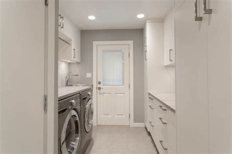 updated bright kitchen laundry room contemporary laundry room vancouver by kenorah
