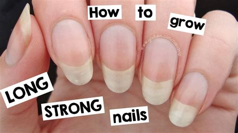 how to get longer nail beds how to grow your nails long strong youtube