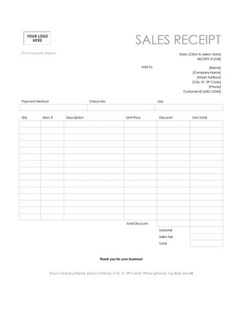 sales receipts templates receipt template uk images