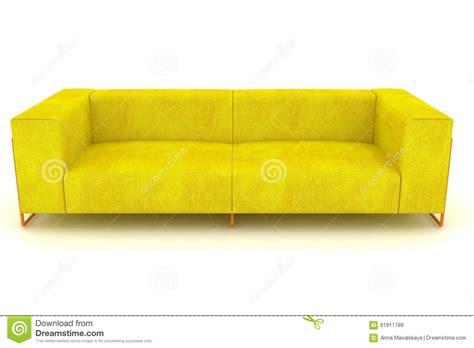 Modern Yellow Sofa Modern Yellow Sofa Stock Illustration Image 61911788