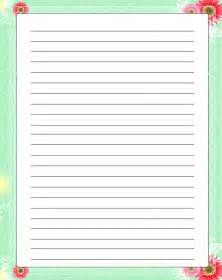Bordered Writing Paper Mothers Writing Paper Mother S Day Border Paper Mother S