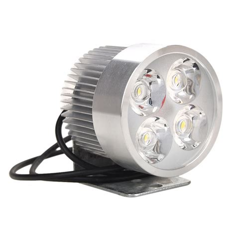 Led Drl Motor white 4 led car motor motorcycle auto daytime running light led driving l 12w in light source