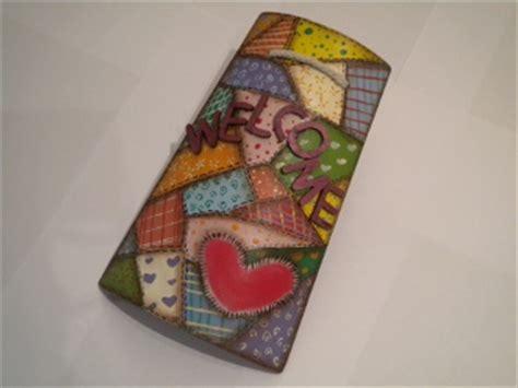 tutorial decoupage su alluminio pittura country su tegola in ceramica tutorial