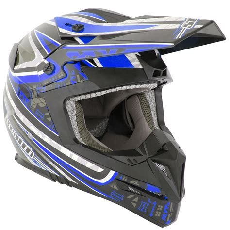 Stealth Hd210 Droid Blue Motocross Helmet Mx Enduro