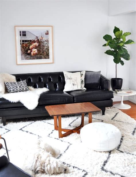 living room decor black leather sofa best 25 black leather couches ideas on living