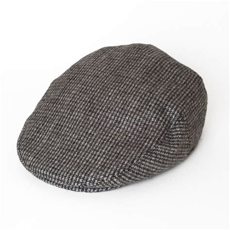 country style wool blend ivy flat cap with dogtooth