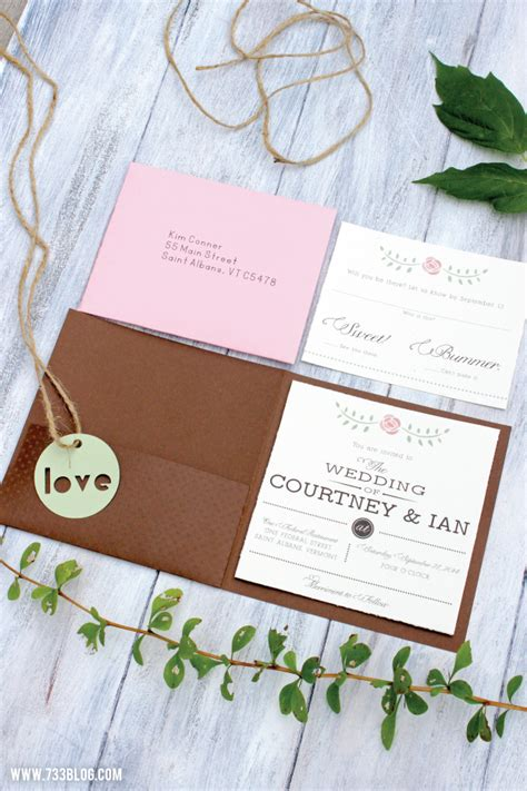 diy rustic wedding invitations inspiration made simple