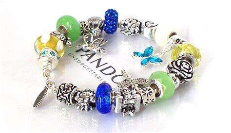 Charm Bracelet 925 Sterling Silver Gelang Blueyellow authentic pandora 925 silver charm bracelet hummingbird garden blue yellow green ebay