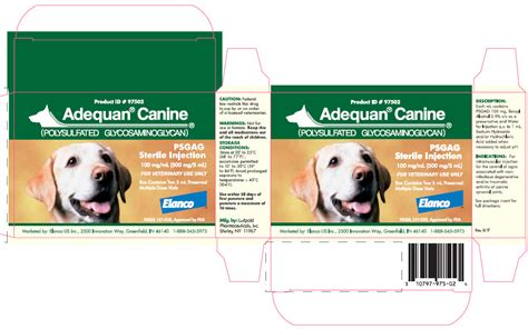 adequan for dogs dailymed adequan canine polysulfated glycosaminoglycan injection solution