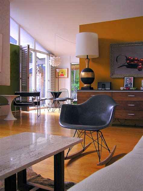 glorious mid century chair with orange accents wall art 13 colors you either love or hate photos poll huffpost