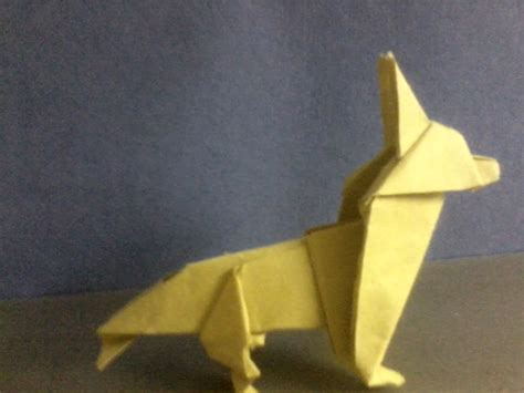 Origami Wolf Folding - origami wolf by sylentecho88 on deviantart