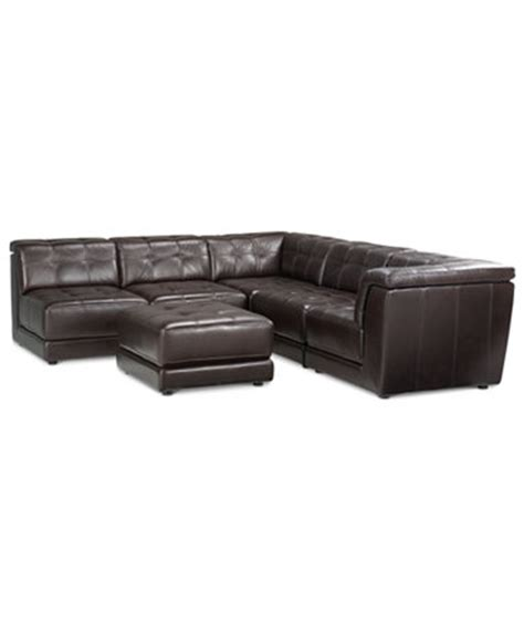 6 piece modular sectional sofa stacey leather 6 piece modular sectional sofa 3 armless