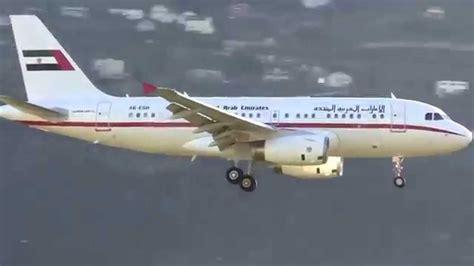 emirates a319 airbus a319 a6 esh united arab emirates gvmt landing