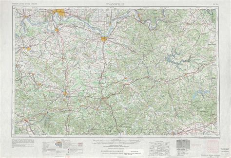 kentucky forest map evansville topographic maps ky in usgs topo
