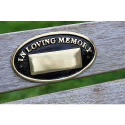 Memorial Bench Plaque Polished Brass Oval Bench Memorial Plaque Memorial