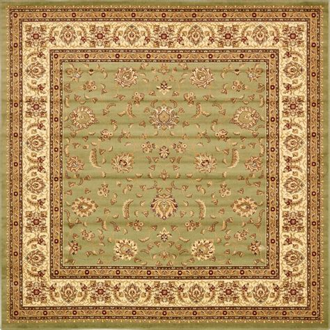 10 X 10 Ft Square Rug - unique loom agra green 10 ft x 10 ft square area rug