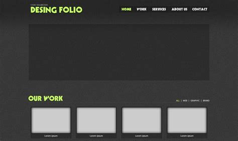 design folio template moonfruit html powered v6 template