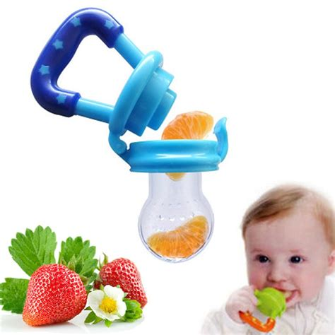 Baby Crib Feeder Portable Infant Food Baby Feeder Silicone Pacifier Fruits Feeding Supplies Soother