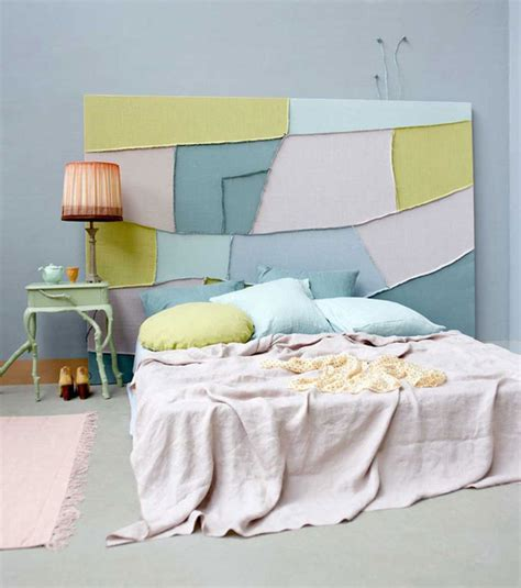 canvas as headboard soft and pretty pastels at home in love
