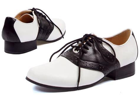 saddle black white shoes costumes au