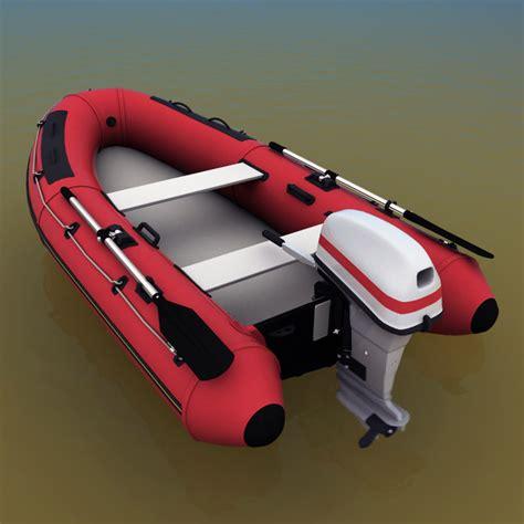 inflatable boat outboard inflatable boat outboard motor 3d model