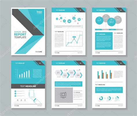 brochure and flyer layout vector 6 company profile annual report brochure flyer layout
